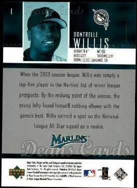 2004 Upper Deck #1  Dontrelle Willis