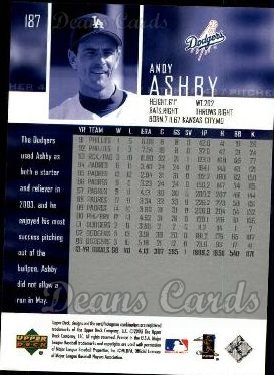 2004 Upper Deck #187  Andy Ashby