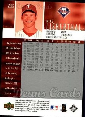 2004 Upper Deck #236  Mike Lieberthal