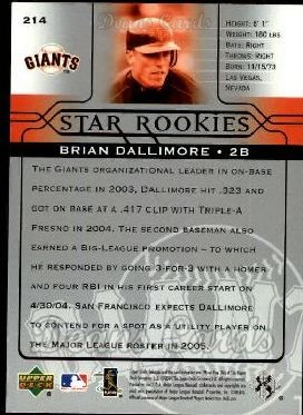 2005 Upper Deck #214   -  Brian Dallimore Star Rookie