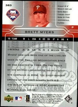 2005 Upper Deck #383  Brett Myers