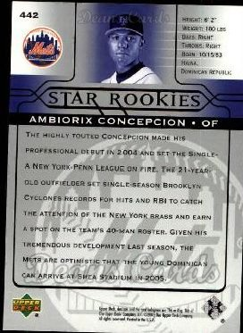 2005 Upper Deck #442   -  Ambiorix Concepcion Star Rookie