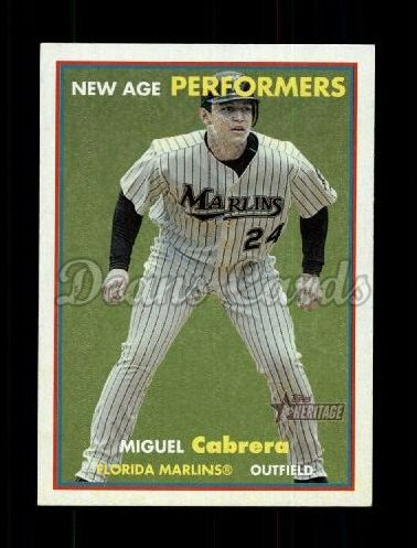 2006 Topps Heritage New Age Performers #10 NAP Miguel Cabrera