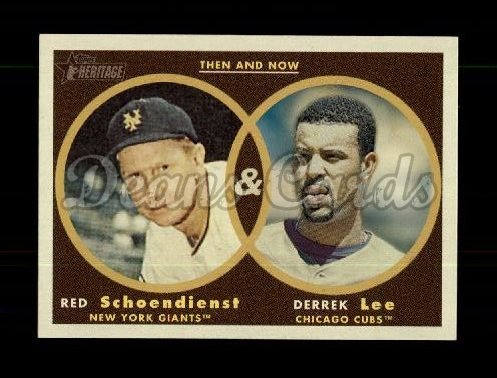 2006 Topps Heritage Then & Now #8 TN Red Schoendienst / Derrek Lee