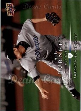 2008 Upper Deck First Edition #27  A.J. Burnett