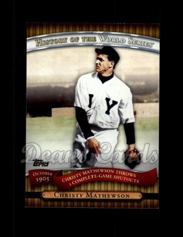 2010 Topps History of the World Series #1 HWS  -  Christy Mathewson History of the World Series