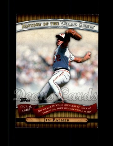 2010 Topps History of the World Series #14 HWS  -  Jim Palmer History of the World Series