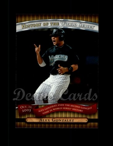 2010 Topps History of the World Series #22 HWS  -  Alex Gonzalez History of the World Series