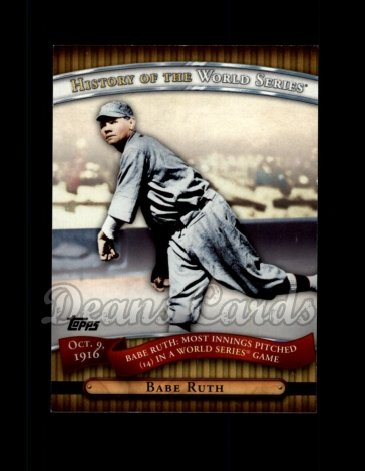 2010 Topps History of the World Series #3 HWS  -  Babe Ruth History of the World Series