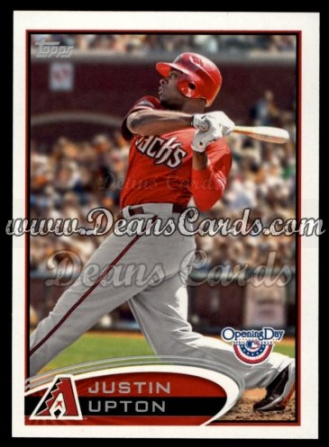 2012 Topps Opening Day #75  Justin Upton