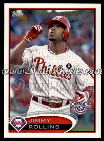 2012 Topps Opening Day #77  Jimmy Rollins