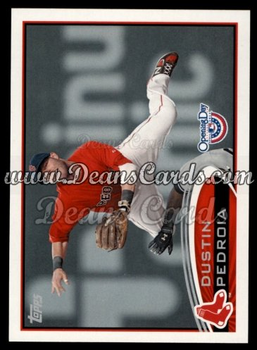 2012 Topps Opening Day #172  Dustin Pedroia