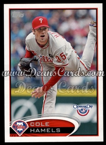 2012 Topps Opening Day #196  Cole Hamels