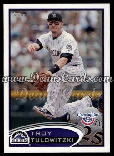 2012 Topps Opening Day #23  Troy Tulowitzki