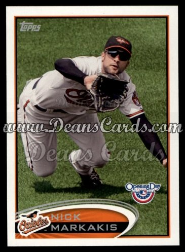 2012 Topps Opening Day #33  Nick Markakis