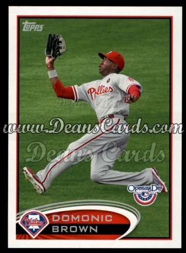 2012 Topps Opening Day #40  Domonic Brown
