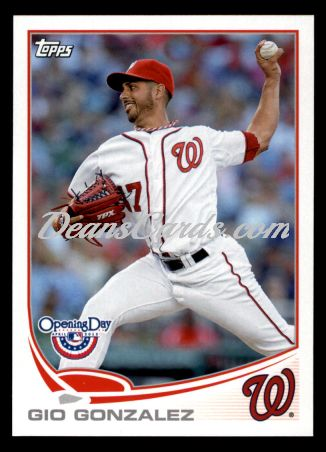 2013 Topps Opening Day #44  Gio Gonzalez