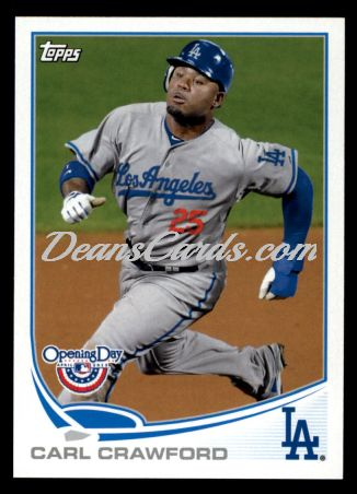 2013 Topps Opening Day #60  Carl Crawford