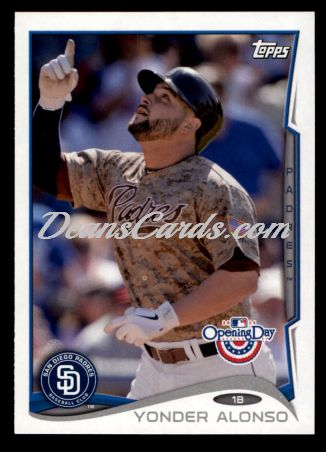 2014 Topps Opening Day #61  Yonder Alonso