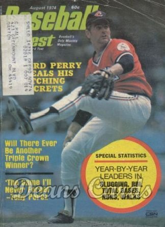 1974 Baseball Digest   -  Gaylord Perry  August