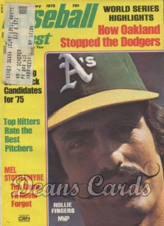 1975 Baseball Digest   -  Rollie Fingers  January
