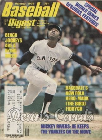 1976 Baseball Digest   -  Mickey Rivers  October