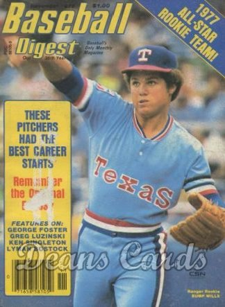 1977 Baseball Digest   -  Bump Wills  November