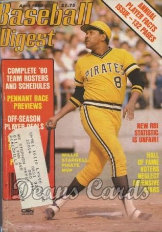 1980 Baseball Digest   -  Willie Stargell  April