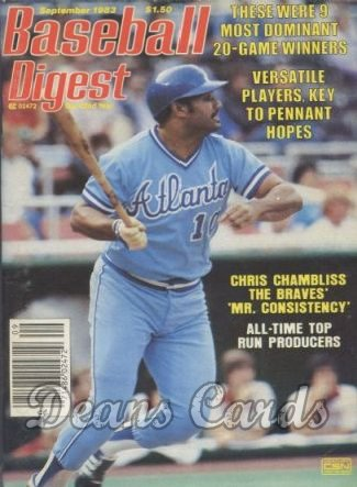 1983 Baseball Digest   -  Chris Chambliss  September