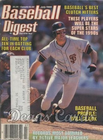 1989 Baseball Digest   -  Will Clark  July
