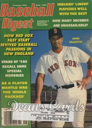 1995 Baseball Digest   -  John Valentin  September
