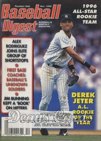 1996 Baseball Digest   -  Derek Jeter  December