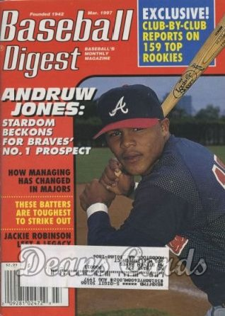 1997 Baseball Digest   -  Andruw Jones  March