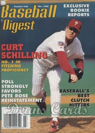 1998 Baseball Digest   -  Curt Schilling  March