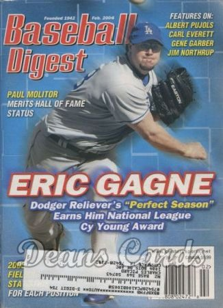 2004 Baseball Digest   -  Eric Gagne  February