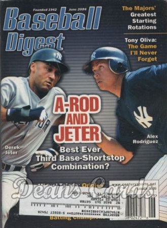 2004 Baseball Digest    June  A-Rod & Jeter