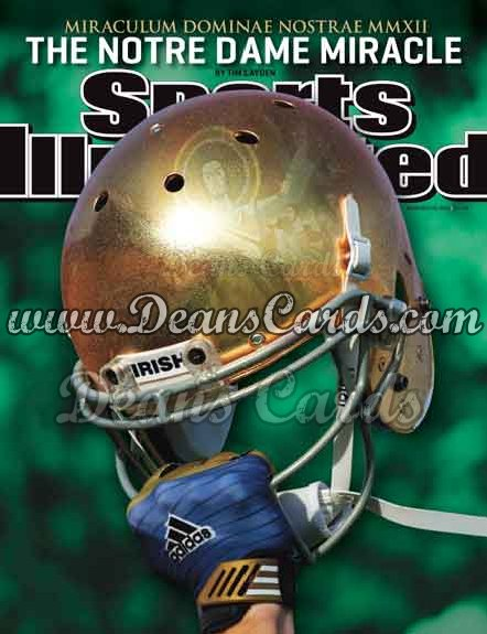 2012 Sports Illustrated - With Label   November 26  -  Notre Dame Fighting Irish / The Notre Dame Miracle