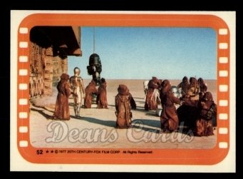 1977 Topps Star Wars Stickers #52   The Jawas Ready their New Merchandise