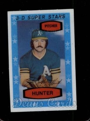1975 Kellogg's #44 OAK Catfish Hunter