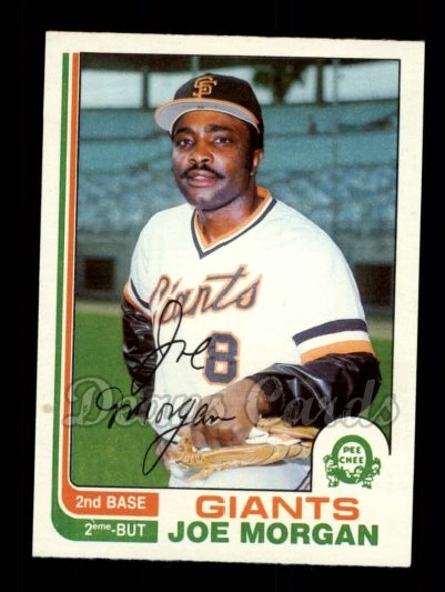 1982 O-Pee-Chee #208  Joe Morgan