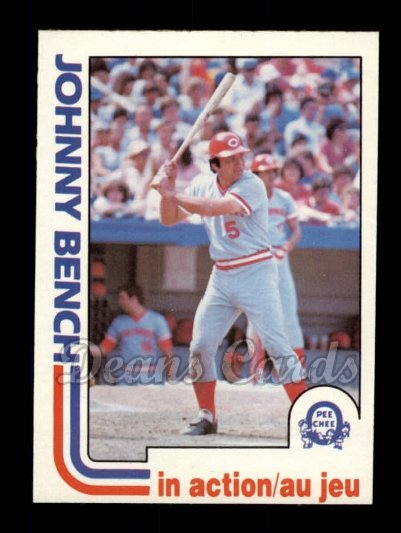 1982 O-Pee-Chee #304   -  Johnny Bench In Action