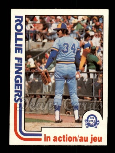 1982 O-Pee-Chee #44   -  Rollie Fingers In Action