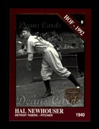 1994 Conlon Burgundy #1009   -  Hal Newhouser Hall-of-Fame