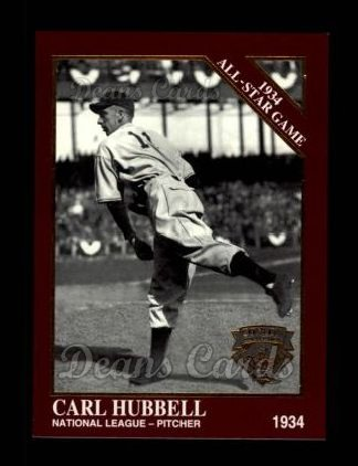 1994 Conlon Burgundy #1105   -  Carl Hubbell 1934 All-Star Game