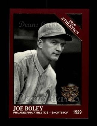 1994 Conlon Burgundy #1141   -  Joe Boley 1929 Athletics