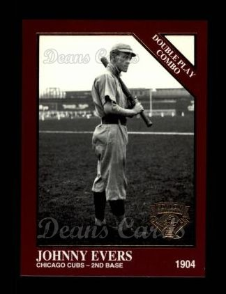 1994 Conlon Burgundy #1165   -  Johnny Evers Double Play Combo