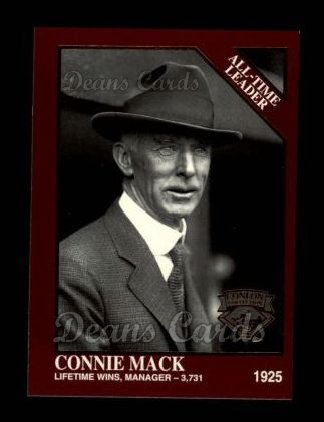 1994 Conlon Burgundy #1217   -  Connie Mack All-Time Leaders