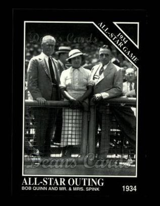 1994 Conlon #1111   -  Bob Quinn / J.G. Taylor Spink / Mrs. J.G. Taylor Spink 1934 All-Star Game