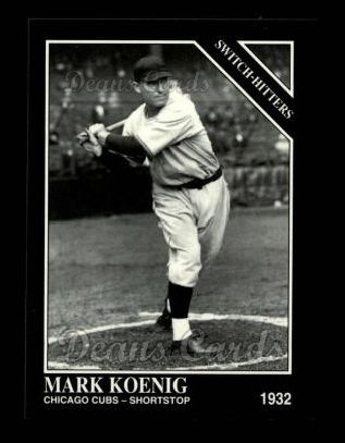 1994 Conlon #1230   -  Mark Koenig Switch-Hitters