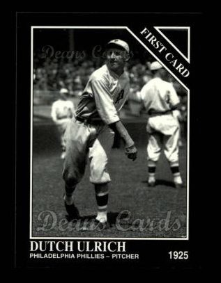 1994 Conlon #1298   -  Dutch Ulrich First Card